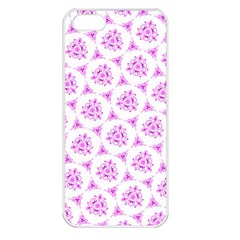 Sweet Doodle Pattern Pink Apple Iphone 5 Seamless Case (white) by ImpressiveMoments