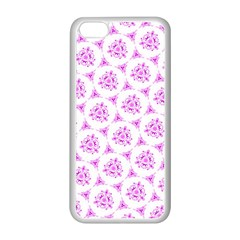 Sweet Doodle Pattern Pink Apple Iphone 5c Seamless Case (white) by ImpressiveMoments