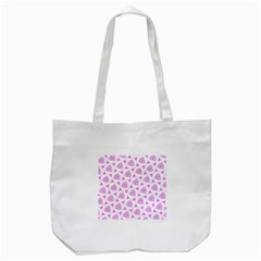 Sweet Doodle Pattern Pink Tote Bag (white)  by ImpressiveMoments