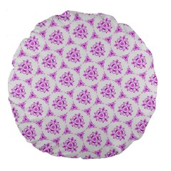 Sweet Doodle Pattern Pink Large 18  Premium Flano Round Cushions by ImpressiveMoments
