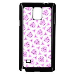 Sweet Doodle Pattern Pink Samsung Galaxy Note 4 Case (black) by ImpressiveMoments