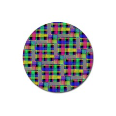 Doodle Pattern Freedom Black Magnet 3  (round) by ImpressiveMoments