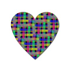 Doodle Pattern Freedom Black Heart Magnet by ImpressiveMoments