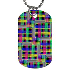 Doodle Pattern Freedom Black Dog Tag (one Side) by ImpressiveMoments