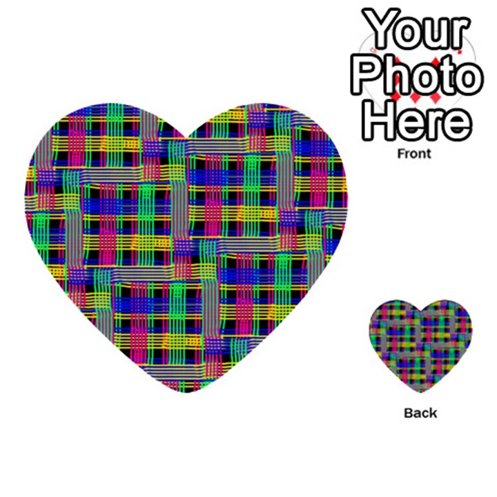 Doodle Pattern Freedom Black Multi-purpose Cards (Heart)