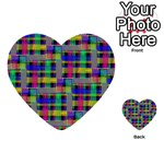 Doodle Pattern Freedom Black Multi-purpose Cards (Heart)  Back 17