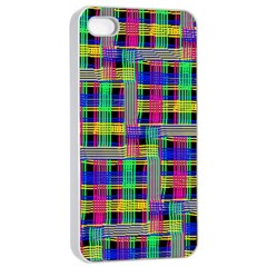 Doodle Pattern Freedom Black Apple Iphone 4/4s Seamless Case (white) by ImpressiveMoments