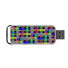 Doodle Pattern Freedom Black Portable Usb Flash (one Side)