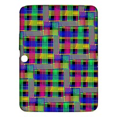 Doodle Pattern Freedom Black Samsung Galaxy Tab 3 (10.1 ) P5200 Hardshell Case  by ImpressiveMoments