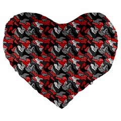Another Doodle Large 19  Premium Heart Shape Cushions by ImpressiveMoments