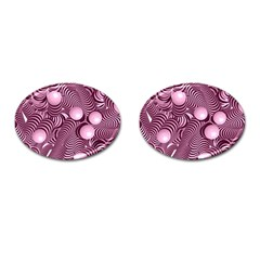 Doodle Fun Pink Cufflinks (oval) by ImpressiveMoments