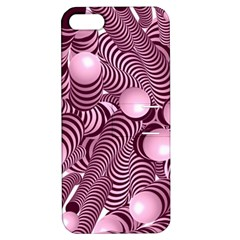Doodle Fun Pink Apple Iphone 5 Hardshell Case With Stand by ImpressiveMoments