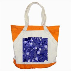 Doodle Fun Blue Accent Tote Bag  by ImpressiveMoments