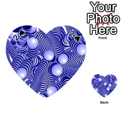 Doodle Fun Blue Playing Cards 54 (heart)