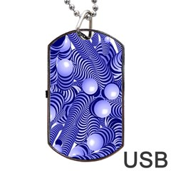 Doodle Fun Blue Dog Tag USB Flash (Two Sides)  by ImpressiveMoments