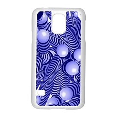 Doodle Fun Blue Samsung Galaxy S5 Case (white) by ImpressiveMoments