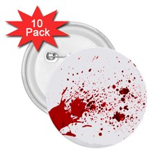 Blood Splatter 1 2.25  Buttons (10 pack)  by TailWags