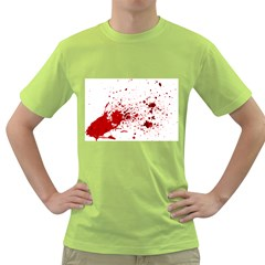 Blood Splatter 1 Green T-Shirt by TailWags