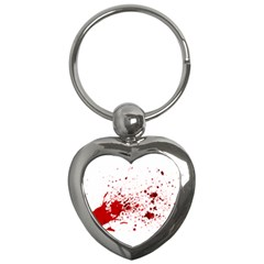 Blood Splatter 1 Key Chains (Heart)  by TailWags
