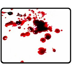 Blood Splatter 2 Fleece Blanket (Medium)