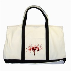 Blood Splatter 3 Two Tone Tote Bag  by TailWags
