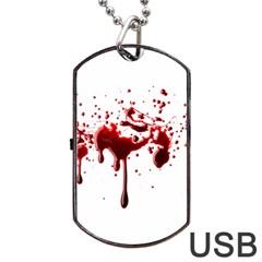 Blood Splatter 3 Dog Tag USB Flash (Two Sides)