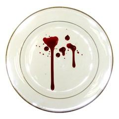Blood Splatter 4 Porcelain Plates by TailWags