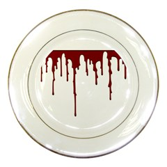 Blood Splatter 5 Porcelain Plates by TailWags