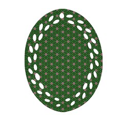 Cute Seamless Tile Pattern Gifts Oval Filigree Ornament (2 Side)  by creativemom