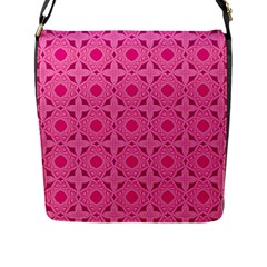 Cute Seamless Tile Pattern Gifts Flap Messenger Bag (l)  by creativemom