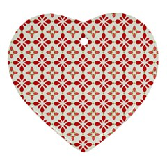 Cute Seamless Tile Pattern Gifts Ornament (Heart)  by creativemom