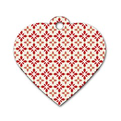 Cute Seamless Tile Pattern Gifts Dog Tag Heart (one Side) by creativemom