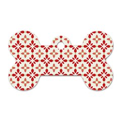 Cute Seamless Tile Pattern Gifts Dog Tag Bone (two Sides) by creativemom