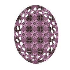 Cute Seamless Tile Pattern Gifts Ornament (oval Filigree)  by creativemom
