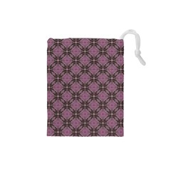 Cute Seamless Tile Pattern Gifts Drawstring Pouches (small)  by creativemom