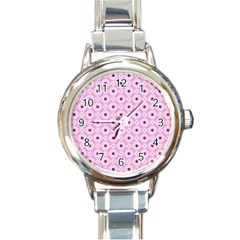 Cute Seamless Tile Pattern Gifts Round Italian Charm Watches by creativemom
