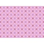 Cute Seamless Tile Pattern Gifts WORK HARD 3D Greeting Card (7x5)  Back
