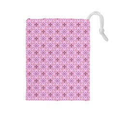 Cute Seamless Tile Pattern Gifts Drawstring Pouches (large)  by creativemom