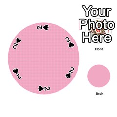 Cute Seamless Tile Pattern Gifts Playing Cards 54 (round)  by creativemom