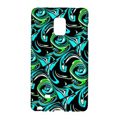 Bright Aqua, Black, And Green Design Galaxy Note Edge by digitaldivadesigns
