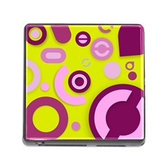 Florescent Yellow Pink Abstract  Memory Card Reader (square) by OCDesignss
