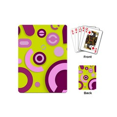Florescent Yellow Pink Abstract  Playing Cards (mini)  by OCDesignss