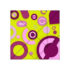 Florescent Yellow Pink Abstract  Acrylic Tangram Puzzle (4  X 4 ) by OCDesignss