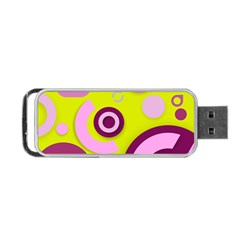 Florescent Yellow Pink Abstract  Portable Usb Flash (two Sides) by OCDesignss
