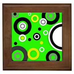 Florescent Green Yellow Abstract  Framed Tiles by OCDesignss