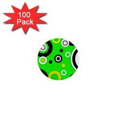 Florescent Green Yellow Abstract  1  Mini Buttons (100 Pack)  by OCDesignss