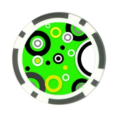 Florescent Green Yellow Abstract  Poker Chip Card Guards by OCDesignss
