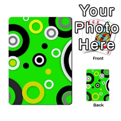Florescent Green Yellow Abstract  Multi Purpose Cards (rectangle)