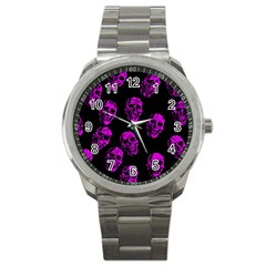 Purple Skulls  Sport Metal Watches by ImpressiveMoments