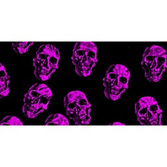 Purple Skulls  You Are Invited 3d Greeting Card (8x4)  by ImpressiveMoments